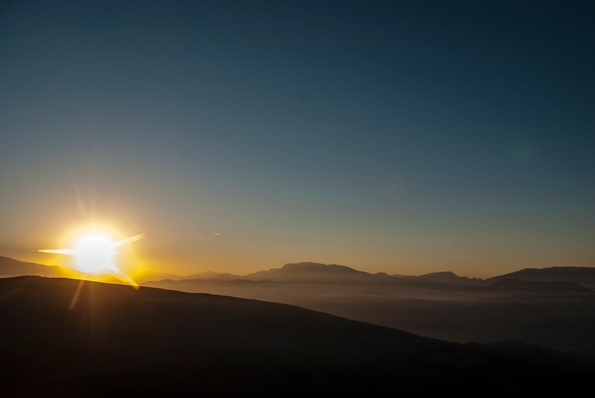 Amanecer en el pirineo. Foto que tomé a las 6 de la mañana...